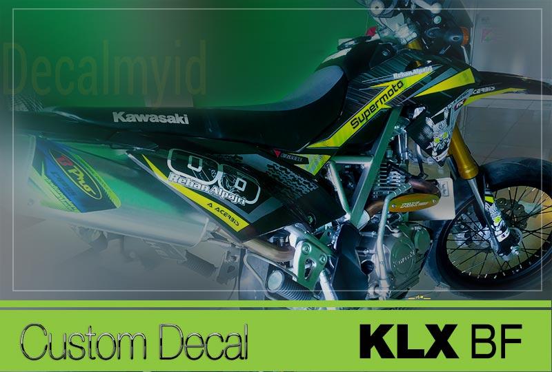 Stiker Custom KLX BF Kawasaki